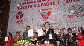 Toyota Việt Nam trở thành nhà tài trợ chính của giải V-League 2015