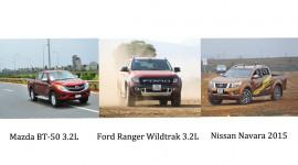 """Ford Ranger, Nissan Navara và Mazda BT50: Đâu mới là """"vua bán tải""""?"""