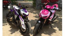 Cặp đôi Kawasaki Z1000 2014 phối màu lạ mắt tại Sài Gòn