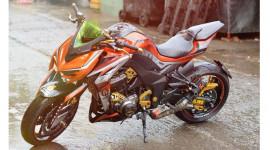 Cận cảnh Kawasaki Z1000 độ cực chất của biker Sài Gòn