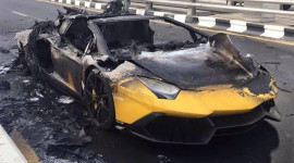 Video: Lamborghini Aventador bản kỷ niệm 50 cháy rụi trên đường