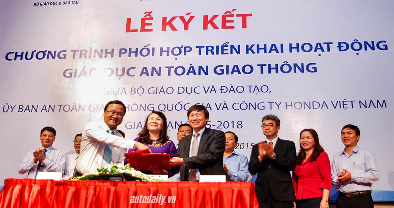 Honda Việt Nam đẩy mạnh triển khai giáo dục ATGT trong trường học