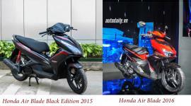 So sánh trực quan Honda Air Blade thế hệ mới và cũ