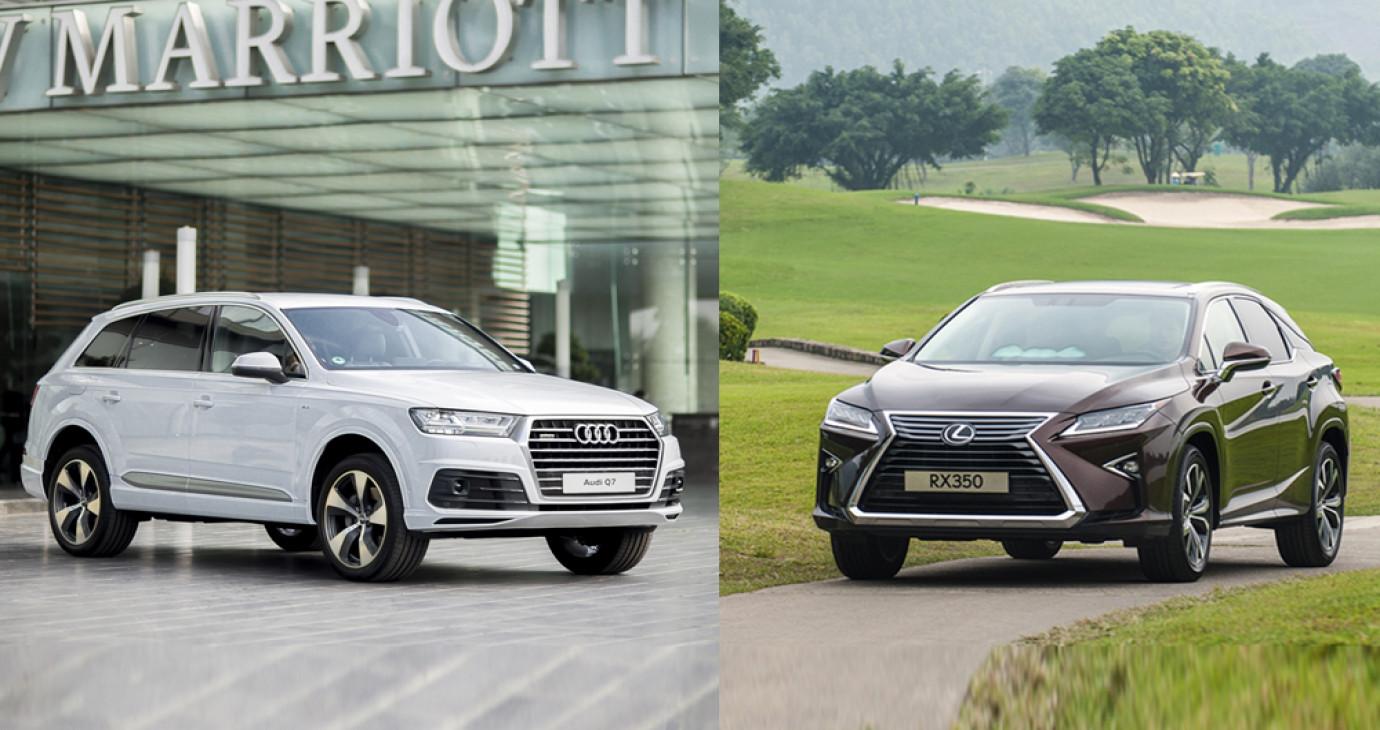 Với hơn 3 tỷ đồng, chọn Lexus RX 2016 hay Audi Q7 2016?