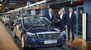 Chiếc Mercedes-Benz E-Class 2016 đầu tiên xuất xưởng