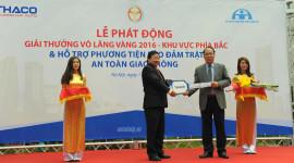 THACO trao tặng 4 xe ôtô cho Ủy ban ATGT Quốc gia