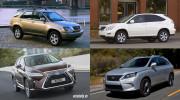 Lexus RX thay đổi như thế nào qua 4 thế hệ?