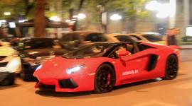 "Xem ""Siêu bò"" Lamborghini Aventador mui trần ""khạc lửa"" tại Hà Nội"