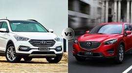 Chọn Hyundai SantaFe 2016 hay Mazda CX-5 2016?