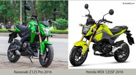 Hơn 90 triệu, chọn Honda MSX 125SF 2016 hay Kawasaki Z125?