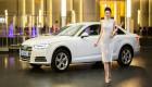 Á hậu Dương Tú Anh lộng lẫy bên xế sang Audi A4 2016
