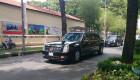 Bộ đôi limousine The Beast ra sân bay Tân Sơn Nhất đón Tổng thống Obama