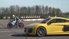 Video: Audi R8 V10 Plus đọ sức cùng Ducati 959 Panigale