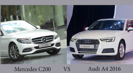 Chọn Audi A4 2016 hay Mercedes-Benz C200 2015?