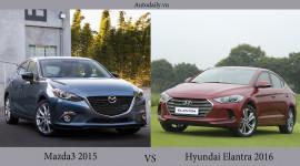 Chọn Hyundai Elantra 2016 hay Mazda3 2015?