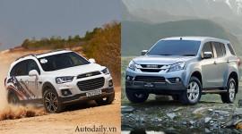 SUV 7 chỗ dưới 1 tỷ đồng chọn Isuzu MU-X hay Chevrolet Captiva?