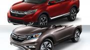 So sánh trực quan giữa Honda CR-V 2017 và thế hệ cũ