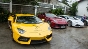 Cường đô la khởi động hành trình Car Passion bằng dàn siêu xe đình đám