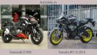 So sánh trực quan Yamaha MT-10 2016 và Kawasaki Z1000