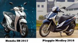 Honda SH 2017 – Piaggio Medley 2016: nhiều khó khăn cho mẫu xe Ý