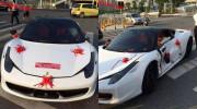 Siêu ngựa Ferrari 458 Italia gặp nạn khi làm xe hoa