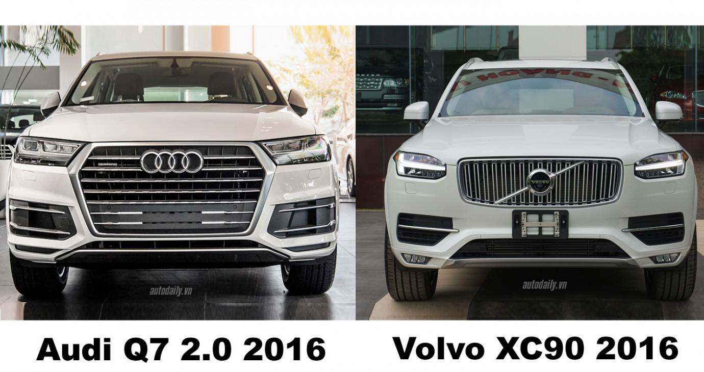 SUV 7 chỗ hạng sang giá hơn 3 tỷ: Chọn Audi Q7 hay Volvo XC90?