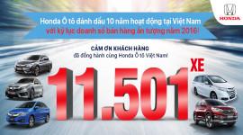 Honda Ôtô đạt doanh số bán xe kỷ lục tại Việt Nam