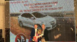 """Honda Việt Nam công bố kết quả chương trình """"Lái thử, đặt xe, trúng City"""""""