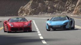 """Xé gió"" trên Lykan Hypersport, Ferrari 488 Spider và McLaren 650S Spider"