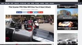 Clip thanh niên Việt lạng lách trên phố lên báo Tây