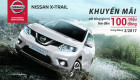 Tháng 2: Mua Nissan X-Trail nhận khuyến mãi lên đến 100 triệu đồng