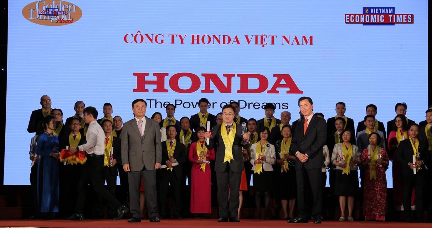 Honda Việt Nam nhận giải thưởng Rồng Vàng năm 2017