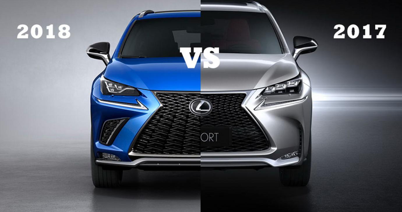 So sánh trực quan giữa Lexus NX phiên bản 2018 và 2017