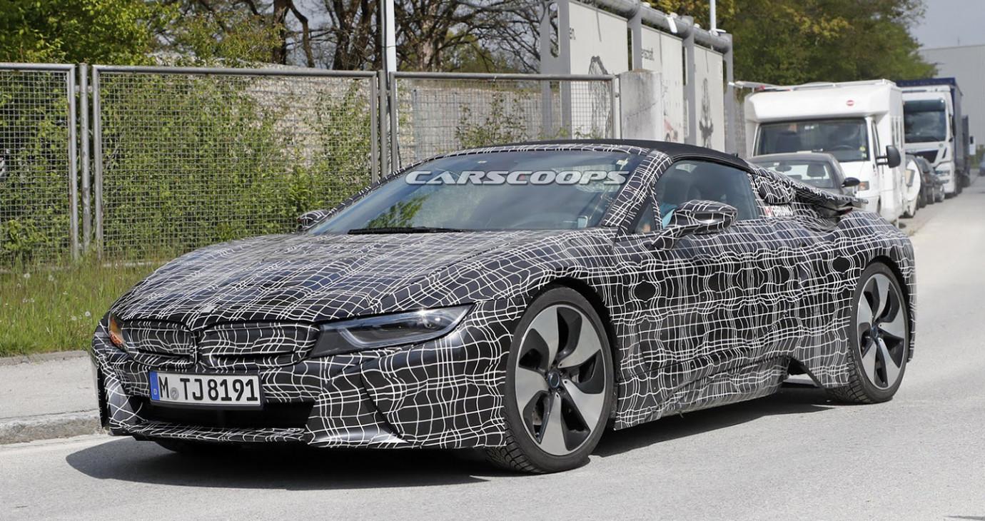 BMW i8 Spyder 2018 lộ diện trên đường chạy thử