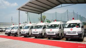 An Phú Thành bàn giao 46 xe cứu thương cho các bệnh viện trên toàn quốc
