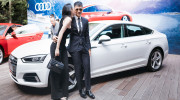 Công Vinh, Thủy Tiên tình tứ tại buổi ra mắt Audi A5 Sportback 2017