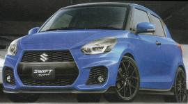 Suzuki Swift Sport 2017 lộ ảnh phác họa