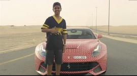 Dân chơi 15 tuổi tại Dubai đổi màu Ferrari F12 Berlinetta cực chất