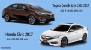 Chọn Honda Civic 2017 hay Toyota Corolla Altis 2.0V 2017?