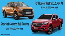 Chọn Chevrolet Colorado High Country hay Ford Ranger Wildtrak 3.2L?