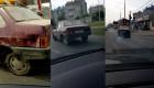 Ôtô mài 1 bánh khét lẹt trên đường vẫn phóng vun vút
