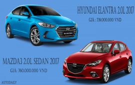 Chọn Hyundai Elantra 2.0L 2017 hay Mazda3 2.0L Sedan 2017?