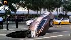 """Rolls-Royce Ghost cắm đầu xuống """"hố tử thần"""""""