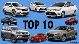 10 xe ôtô bán chạy nhất Việt Nam tháng 9/2017