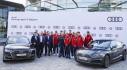 Các cầu thủ Bayern Munich nhận loạt xe mới do Audi tài trợ