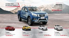 Tặng quà trị giá 70 triệu đồng khi mua xe Nissan tháng 11