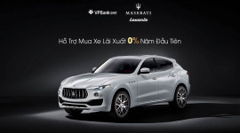 Mua xế sang Maserati Levante với lãi suất 0%