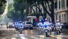 Cảnh sát Việt dùng môtô 'khủng' hộ tống Tổng thống Mỹ
