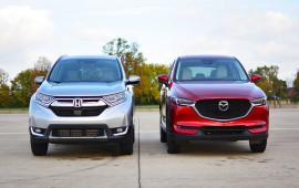 Ảnh so sánh Honda CR-V 2017 vs. Mazda CX-5 2017