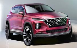 Lộ diện hình ảnh phác thảo Hyundai Santa Fe thế hệ mới